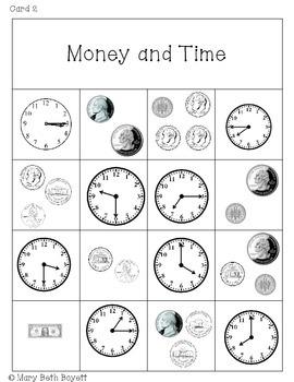 Money and Time BINGO