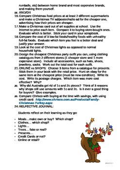 Money at Christmas- a Math unit
