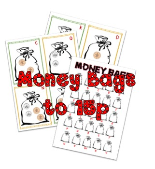 Money bags activity/hunt to 15p