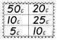 Money bingo- amounts up to 50c