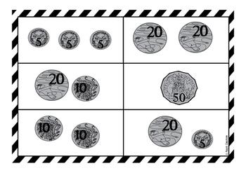 Money bingo - coins to 50c