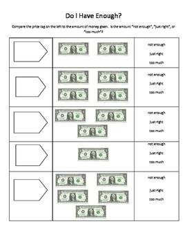 Money budgeting, Do I have enough?