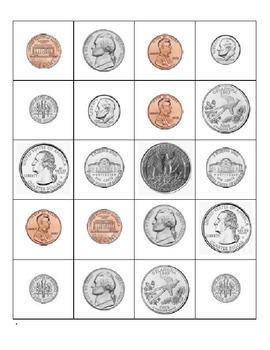 Money coins matching/ Monedas