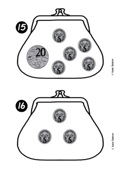 Money - count coins up to 50c