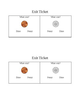 Money exit ticket