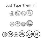 Money fonts - Coins & Bills