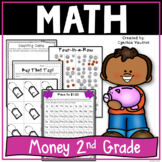 Money Unit: Games, Activities, Worksheets and More for Money in 2nd Grade
