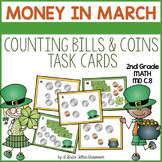 Counting Money: Dollar and Coins Task Cards (March Theme)