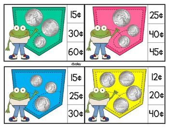 Money in My Pocket Clip Cards - Counting Coins