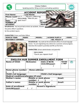 Speaking Practice: Filling Out Forms