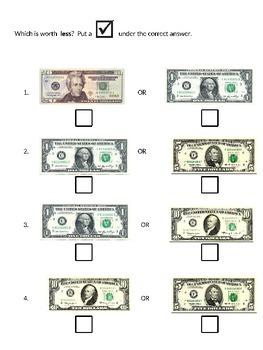 Money more or less life skills EZ easy SH