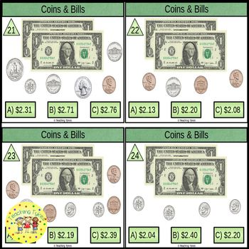 Counting Money Coins and Bills