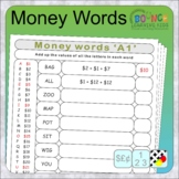 Money Words Alphabet Code (solve the code solve the sum di