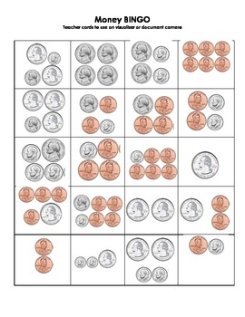 Money/Counting Coins BINGO