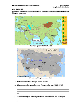 Mongol Conquests Worksheet