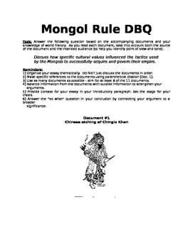 Mongol DBQ