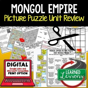 Mongol Empire Picture Puzzle Unit Review, Study Guide, Test Prep