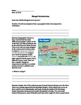 Mongol Introdution
