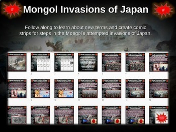 Mongol Invasions of Japan Comic Strip Activity: engaging 23-slide PPT