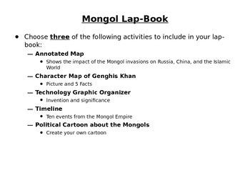 Mongol Lap Book