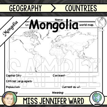 Mongolia Fact File Worksheet
