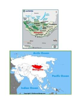 Mongolia Map Scavenger Hunt
