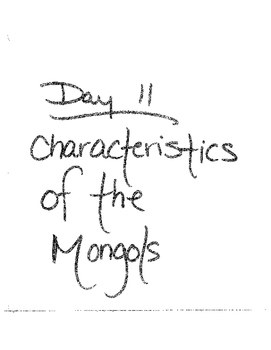 Mongols: From Tent To Palace Lesson plan