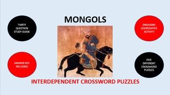 Mongols: Interdependent Crossword Puzzles Activity