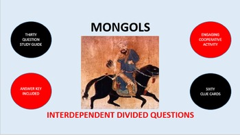 Mongols: Interdependent Divided Questions Activity