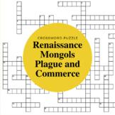 Mongols, Plague, Commerce, and Renaissance Crossword Puzzle