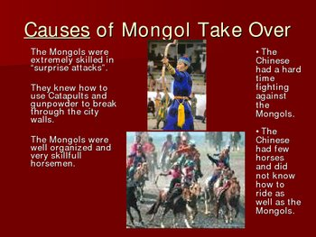 Mongols Take Over China Cause and Effect Presentation