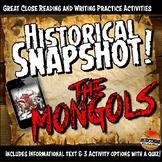 Mongols or Yuan Dynasty Historical Snapshot Close Reading Investigation
