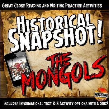 Mongols or Yuan Dynasty Historical Snapshot Close Reading