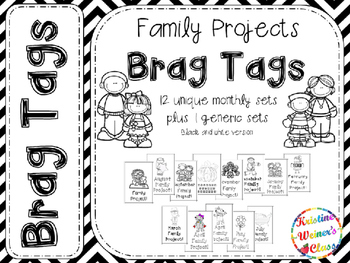 BRAG TAGS: Monthly Family Project--Black and White Version