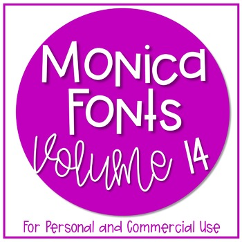 Monica Fonts - Volume 14 {10 Fonts for Personal and Commercial Use}