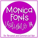 Monica Fonts - Volume 14 {10 Fonts for Personal and Commer