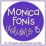 Monica Fonts - Volume 15 {7 Fonts for Personal and Commerc