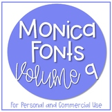 Monica Fonts - Volume 9 {10 Fonts for Personal and Commerc