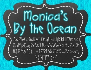 Monica's By the Ocean {Font for Personal and Commercial Use}