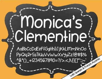 Monica's Clementine {Font for Personal and Commercial Use}