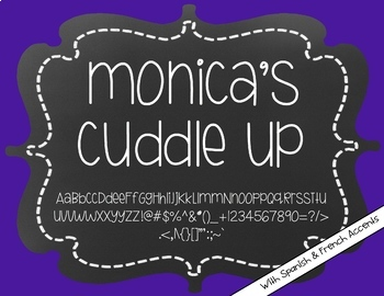 Monica's Cuddle Up {Font for Personal and Commercial Use}