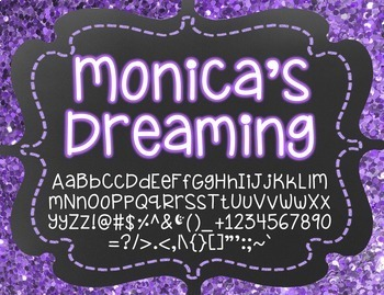 Monica's Dreaming {Font for Personal and Commercial Use}