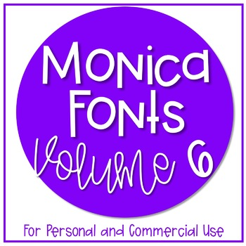 Monica's Fonts - Set #6 {10 Fonts for Personal and Commerc