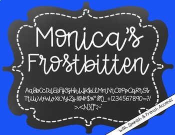 Monica's Frostbitten {Font for Personal and Commercial Use}