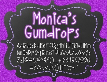 Monica's Gumdrops {Font for Personal and Commercial Use}