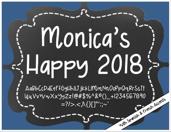 Monica's Happy 2018 {Font for Personal and Commercial Use}
