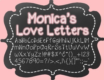 Monica's Love Letters {Font for Personal and Commercial Use}
