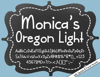 Monica's Oregon Light {Font for Personal and Commercial Use}