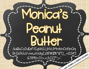 Monica's Peanut Butter {Font for Personal and Commercial Use}