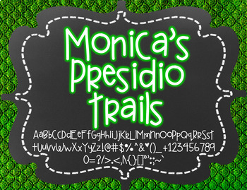 Monica's Presidio Trails {Font for Personal and Commercial Use}
